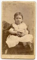 CDV Photo - Buffalo New York - Little Girl / Necklace