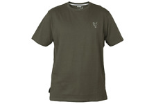 New Fox Collection Green Silver T-Shirts All Sizes - Carp Fishing Clothing