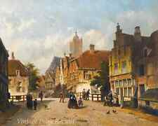 A Dutch Street by Adrianus Eversen - Dutch Victorian Town City 8x10 Print 1089