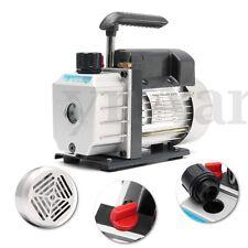 Single Stage Vacuum Pump Rotary Vane 3CFM 1/4HP Deep HVAC AC Air Tool 180W 220V