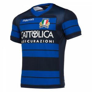 1672/75 MACRON FIR FEDERAZIONE ITALIANA RUGBY ITALIA MAGLIA ALLENAMENTO 58097818