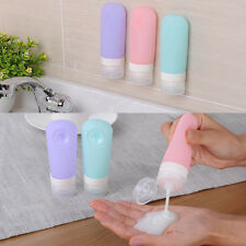 3PCS Silicone Travel Blank Bottle Set Shampoo Container Cosmetic Sub-bottling