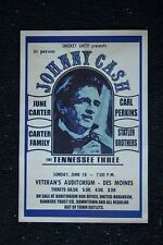 Johnny Cash Poster 1971 Veterans Auditorum Des Moines