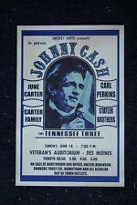 Johnny Cash Poster 1971 Veterans Auditorum Des Moines