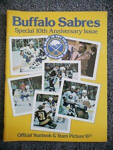1970-80 Buffalo Sabres Special 10th Anniversary Issue Official Yearbook