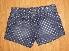 Miss Me Jean Shorts Size 26 White Polka Dot J54480H17