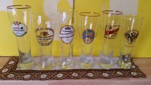 6 Weißbiergläser: Mix, Schweiger, Anno, Rosenheimer, etc., 0,5L (Weizenglas)