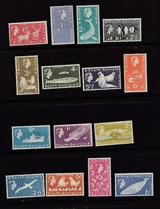 South Georgia 1963 Fauna QEll Complete Set of 15 Stamps MH
