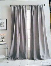 NWT DKNY PLAZA Dark Gray Textured Window Curtain Panels 50x96 PAIR