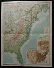 Vintage Map: United States Eastern Section by John Bartholomew, Times Atlas 1922