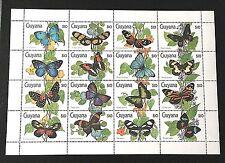 Butterflies of Guyana  🇬🇾 Souvenir Sheet MNH