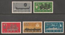 Norway #382-386 (A91) VF MNH - 1960 20o to 90o Norwegian Shipping Industry