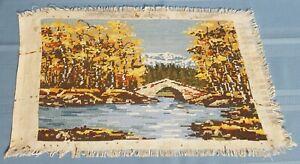 "Tapestry/gobelin ""autumn landscape"" Needlepoint, Handmade Finish-18.0'' x 11.5''"