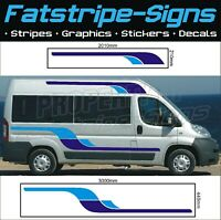 3m MOTORHOME VINYL GRAPHICS STICKERS DECALS STRIPES SET CAMPER VAN FIAT DUCATO