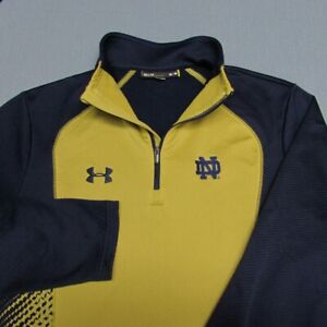 UNDER ARMOUR 1/4 ZIP POLY  PULLOVER--M----NOTRE DAME--FANTASTIC LOOK & QUALITY!