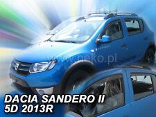 DACIA SANDERO II / SATEPWAY II  2013 -   Wind deflectors 4.pc  HEKO 13113
