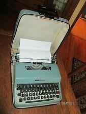 Olivetti Underwood Lettera 32 Vintage Portable Typewriter W CASE Italy 1960'S