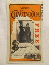 1913 Program Chautauqua Petersburg In W/Abraham Lincoln Play The Great Commoner
