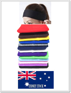 *BUY 10 GET 2 FREE* Plain Color Cotton Elastic Stretch Headband 7cm/13cm Wide