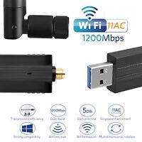 USB Adaptador Wifi inalámbrico de banda dual 2.4G / 5.8G doble antena para PC