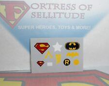 "Mego 8"" Action Figure parts- Superman,Batman,Shazam,Aquaman UNCUT sticker sheet"