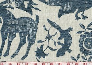 Swavelle Party Animal Cats Dogs Jacquard Atlantic Blue Fabric By The Yard