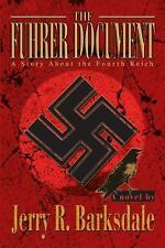 Fuhrer Document WWII Nazi Thriller Jerry Barksdale Athens AL Dedication by Auth