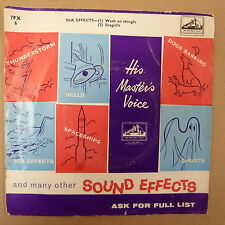 45rpm HMV SOUND EFFECTS sea effects / wash on shingle / seagulls, 7 FX6