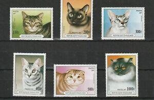 TOGO - 1997 MNH DOMESTIC CATS - 6v
