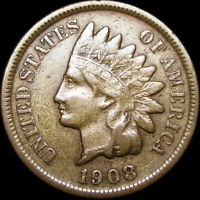 1908-S Indian Head Cent Penny ---- NICE ---- #C936