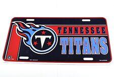 Tennessee Titans USA License Plate American Football NFL blau-rot