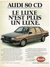 Publicité Advertising 1982 Audi 80 CD