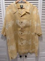 Tommy Bahama Shirt Extra Extra Large 100% Linen Yellow Excellent Condition