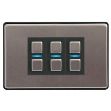 Lightwave L23 Smart Series Dimmer Stainess Steel 3 Gang
