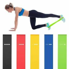 Yoga Resistance Bands Stretching Rubber Loop Exercise Fitness Equipment 5PCS