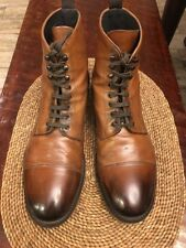 To Boot New York Stallworth Burnished Cognac Brown Boots Sz 11.5 $450