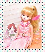 ❤️Takara Tomy Licca-chan Rika-chan Doll LD-09 Pink Dress Blond Hair Japan❤️