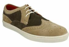 Zapatos informales de hombre con cordones de ante