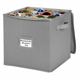 Christmas Ornament Storage Container – Heavy Duty 600D Canvas
