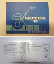 Manuale manual libretto uso manutenzione motozappa tiller HONDA F 200