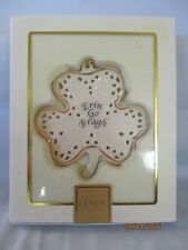 "Lenox-Ornament-Shamrock-& #034;Erin Go Bragh""-New in Box With Sleeve"