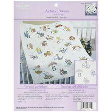 Bucilla Cotton/polyester Blend Stamped Cross Stitch Baby Quilt Top 34 X 43 Inche