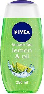 NIVEA Shower Gel, Lemon & Oil Body Wash, Women, 250ml Pack of 2