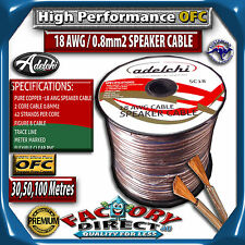 30M High Performance 18 AWG 0.8mm2 100% Ultra Pure OFC Audio Cable Speaker Wire