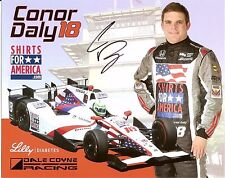 2016 CONOR DALY signed INDIANAPOLIS 500 PHOTO CARD INDY CAR pat mcafee show