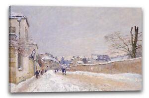 Toile/Cadres Alfred Sisley - Rue Eugène Moussoir à Moret: Hiver