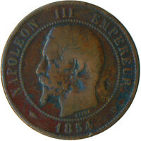 COIN / FRANCE / 10 CENTIMES 1854 NAPOLEON III. #WT5519