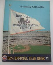 1974 NEW YORK METS YEARBOOK, NL Championship World Series Edition
