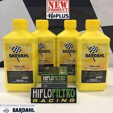 4 Litri Olio BARDAHL BARDHAL XT-S XTS C60 10W40 Polarplus Fullerene+Filtro HIFLO