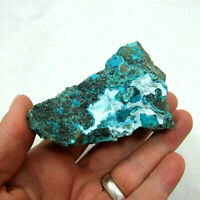 Bright Blue Chrysocolla Botryoidal Mineral Specimen Unpolished 138g 8cm Congo